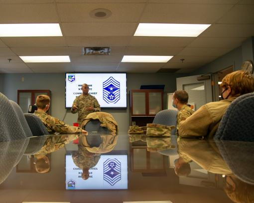 Senior enlisted Airman visits 107th Attack Wing