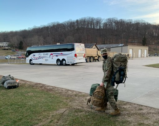 NY National Guard Troops Depart for DC inaugural