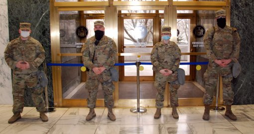 Soldiers help secure Capitol complex