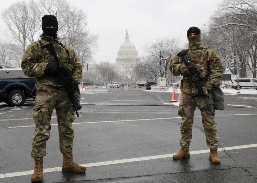 27th Brigade Soldiers on duty in DC