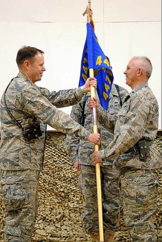 Lt. Col. Carey Merritt of the NY Air National Guard takes command in Iraq