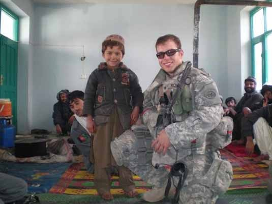 National Guardsman meets local Afghan children
