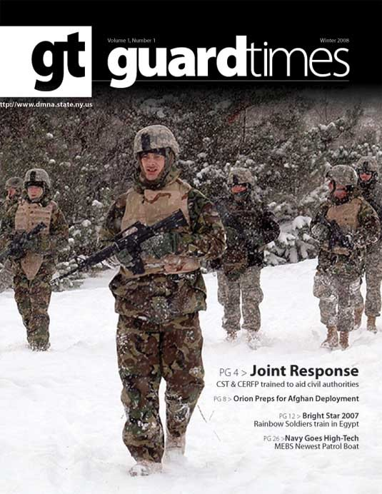 Cover page of the Guard Times News Magazine