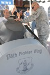 Air Force Vet Visits Air Guard Recruiting Station