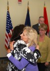 A Hug From The Vice President's Wife