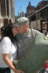 Homecoming Kiss for Finance Detachment NCO - Jul 22, 2010