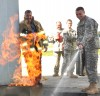 Albany Airport Firemen and Soldiers Train