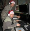 Air Guard Members Tracking Santa