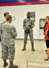 AAFES Senior Chief Visits Hancock Airfield