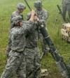 Cavalry Troopers conduct Mortar Training