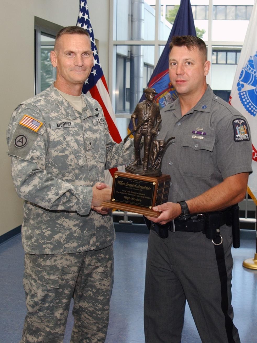 New York State Trooper and Air Guardsman Edward Stefik and Brig Gen