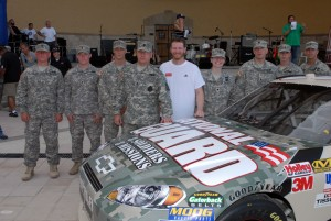 Dale Earnhardt Jr. and Guard Soldiers unveil paint scheme for Daytona NASCAR race