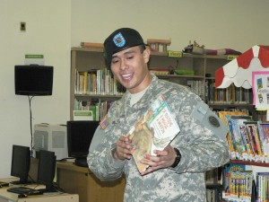 National Guard Soldier Reaches out through Reading to NYC Children