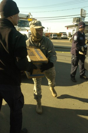 Active, Guard working together to deliver food, pump water, assist recovery efforts