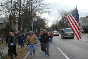Christmas Eve Road March Honors Troops