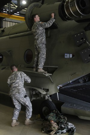 Aviation Mission Rained Out, But Soldiers Train Anyway