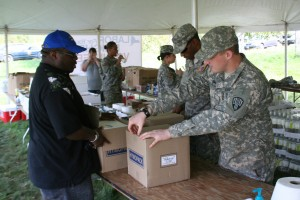 New York National Guard Helps Put Volunteers to Work