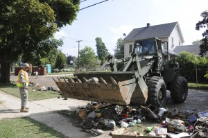 Western New York Guard troops mobilized for flood clean up