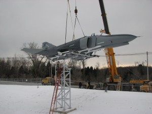F-4 Phantom Jet Moved to Permanent Display at Eastern Air Defense Sector