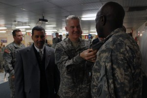 Governor Paterson Visits New York Soldiers in Afghanistan