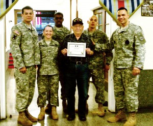 City Soldiers Assist WWII, New York Guard Veteran