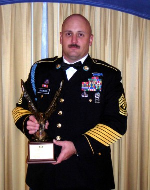 Guard First Sergeant Awarded USO Leadership Award
