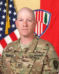 Colonel Stephen M Bousquet, Commander, 369th Sustainment Brigade
