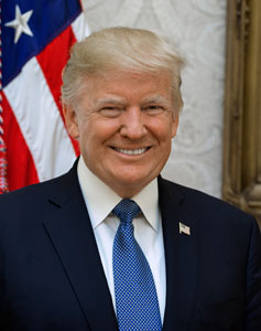 Donald J Trump, President of the United States of America