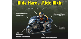 May is Motorcycle Safety Month, Safety Message graphic
