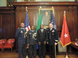 NY SPP - Col Mongezi Kweta, BG Mashoro Phala, Honorable George Monyemangene and MG Patrick Murphy @ the NY SPP 10th Anniversary Celebration