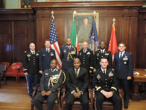 NY SPP - 1st Row: BG Mashoro Phala, The Honorable George Monyemangene, MG Patrick Murphy, 2nd Row: COL Michael Natli, BG Anthony German, Col Mongezi Kweta, BG Raymond Shields, COL Frantz Michel, Col Michael Norton