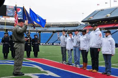 Newest New York Airmen Featured During Buffalo Bills Game