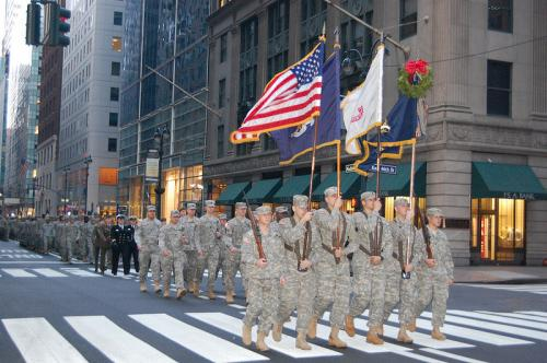 Fighting 69th Soldiers March in New York's St. Patrick's Day Parade