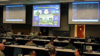 Virtual Flag computer wargame hones skills of 152nd Air Operations Group Airmen