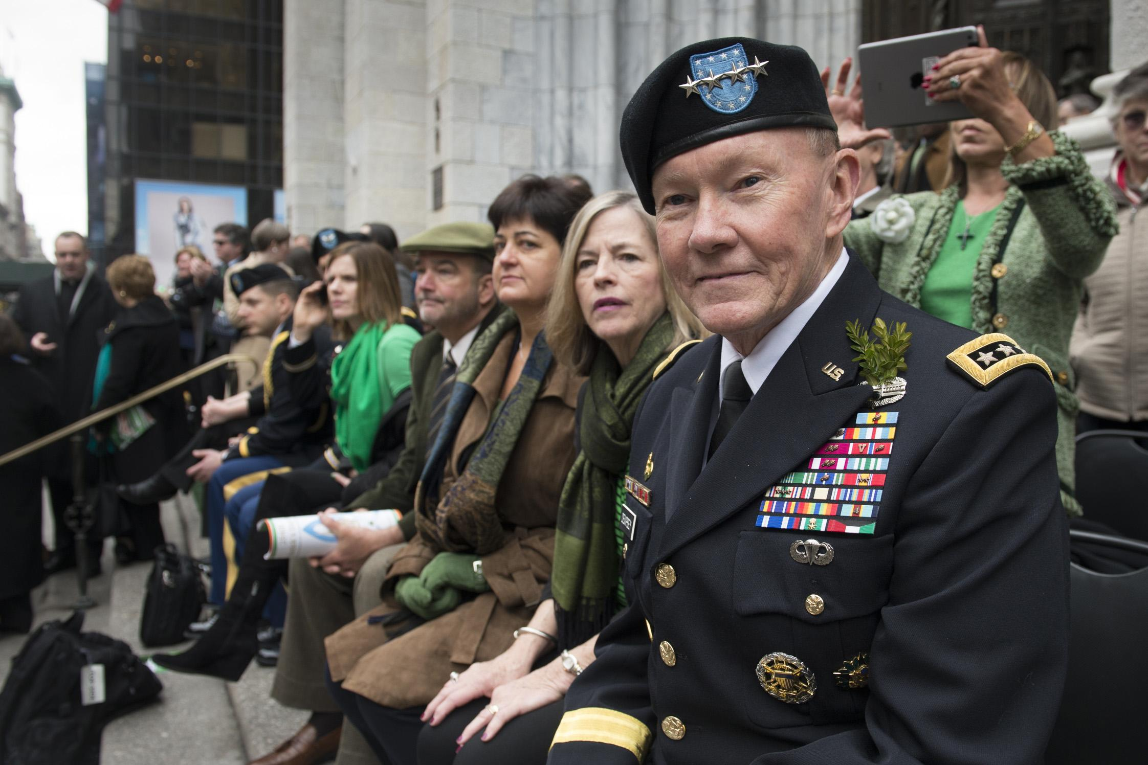 Chairman of the Joint Chiefs Spends St. Patrick's Day with the Fighting 69th