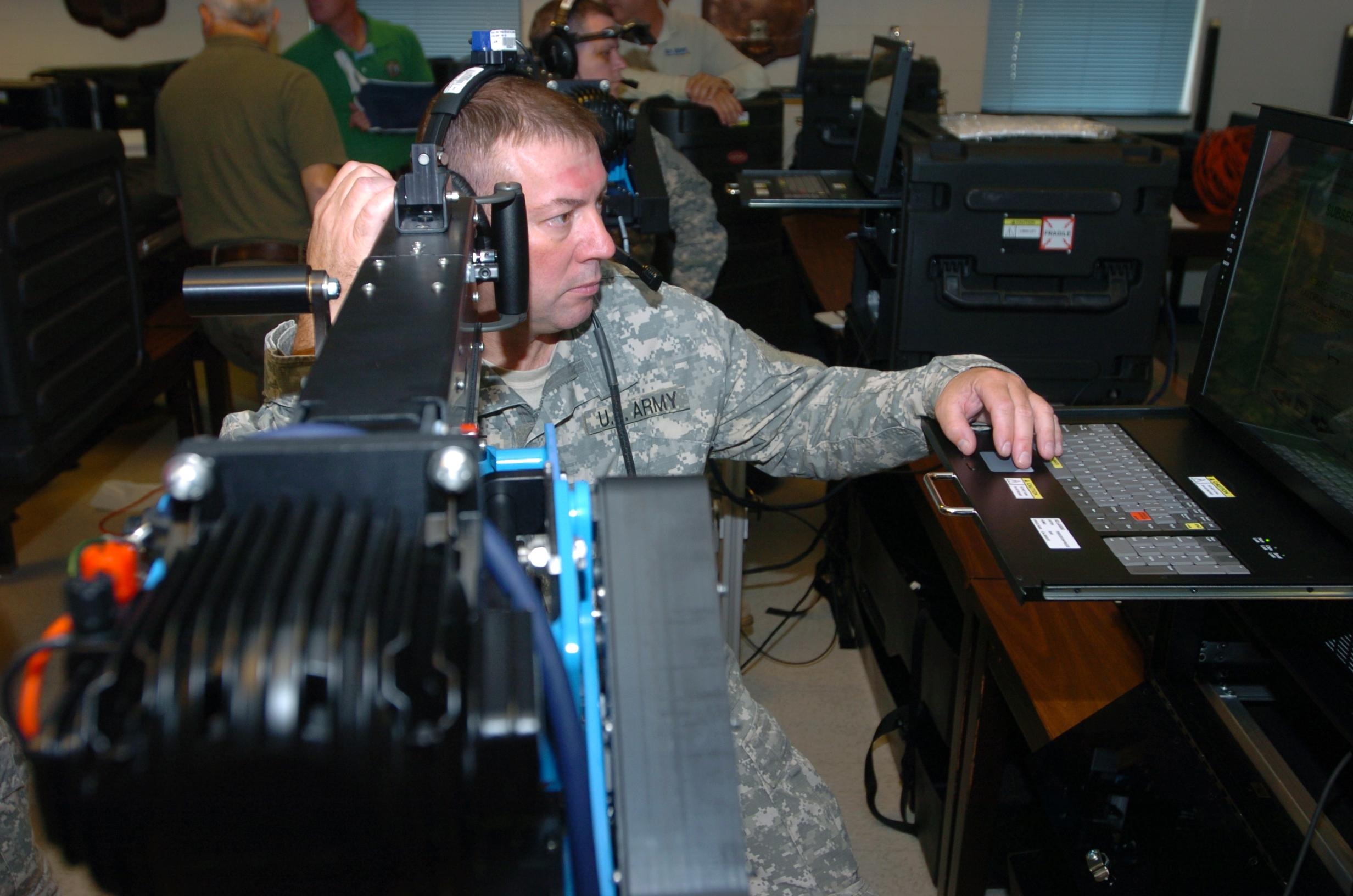 27th Brigade Soldiers Training with New .50 Caliber Machine Gun Simulator