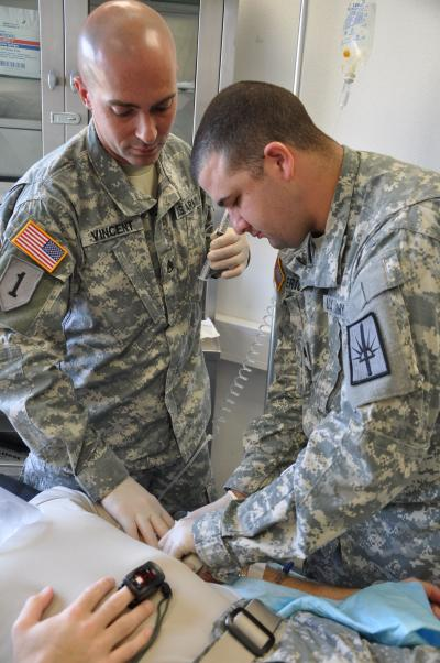 New York Army National Guard Medics On the Job In Germany