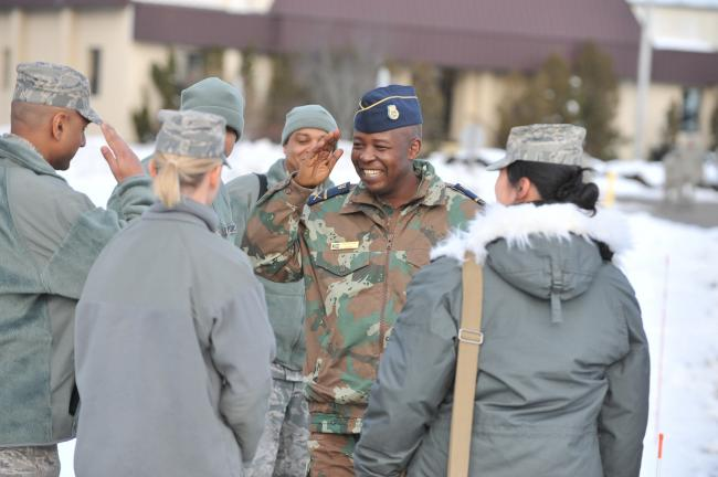 South African Defense Attache Visits 106th Rescue Wing