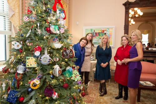 New York National Guard Ornament Hangs on Christmas Tree in Second Lady's Office