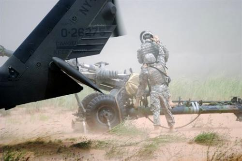 1-258th Artillerymen Conduct Artillery Raid Training at AT